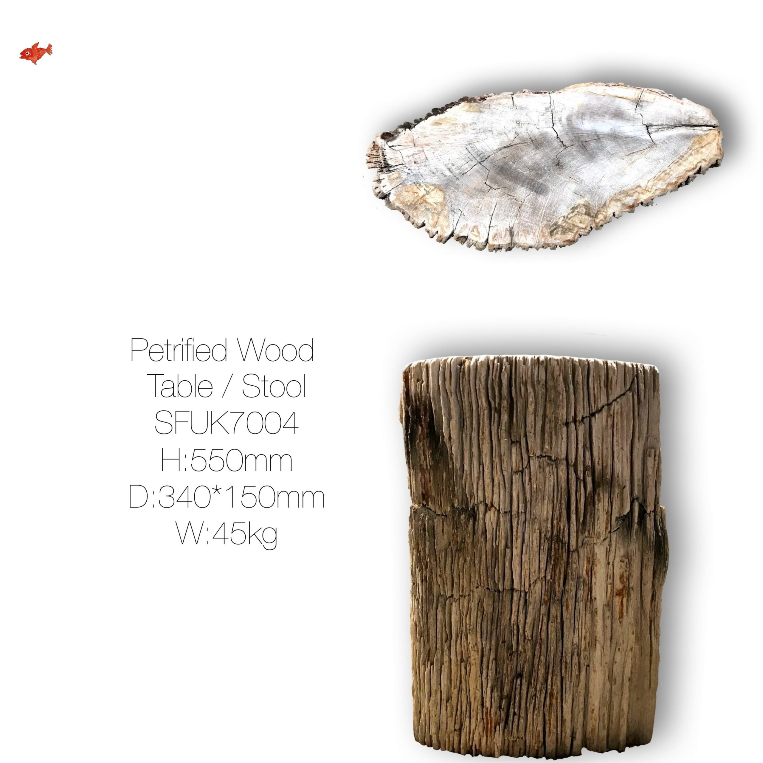 Brown Petrified Wood Table
